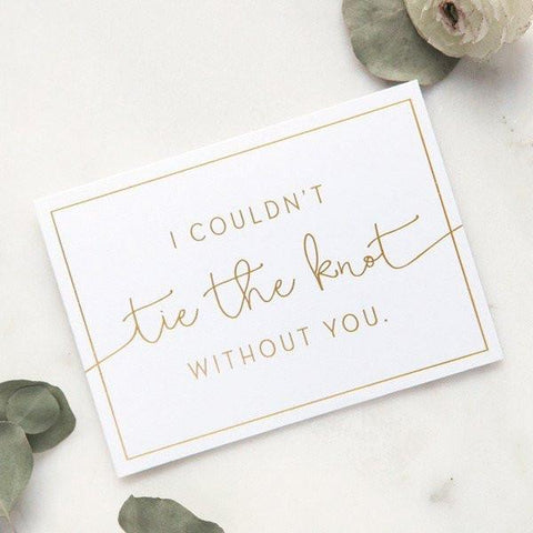 Bridesmaid Proposal - Tie The Knot - Box Set of 5 Cards - Marry Me Wedding Accessories & Gifts