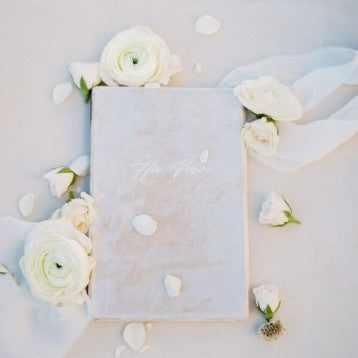 Velvet Archival Wedding Vow Keepsake Book