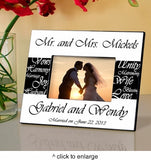 Mr. and Mrs. Personalized Wedding Frame - Marry Me Wedding Accessories & Gifts - 1
