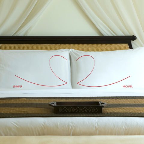Couples Personalized Heartstrings Pillow Case Sets