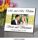Mr. and Mrs. Personalized Wedding Frame - Marry Me Wedding Accessories & Gifts - 2