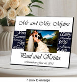 Mr. and Mrs. Personalized Wedding Frame - Marry Me Wedding Accessories & Gifts - 3