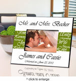 Mr. and Mrs. Personalized Wedding Frame - Marry Me Wedding Accessories & Gifts - 4