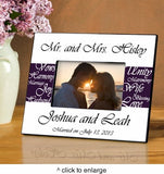 Mr. and Mrs. Personalized Wedding Frame - Marry Me Wedding Accessories & Gifts - 5