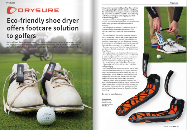 Golf South Magazine review Drysure