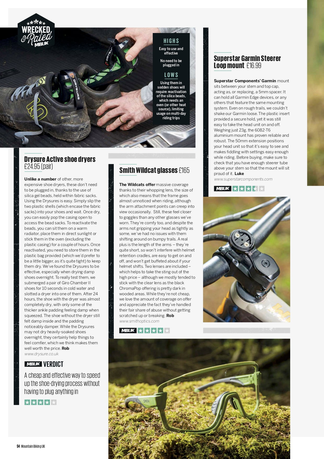 DRYSURE ACTIVE - Recommended by Mountain Biking UK