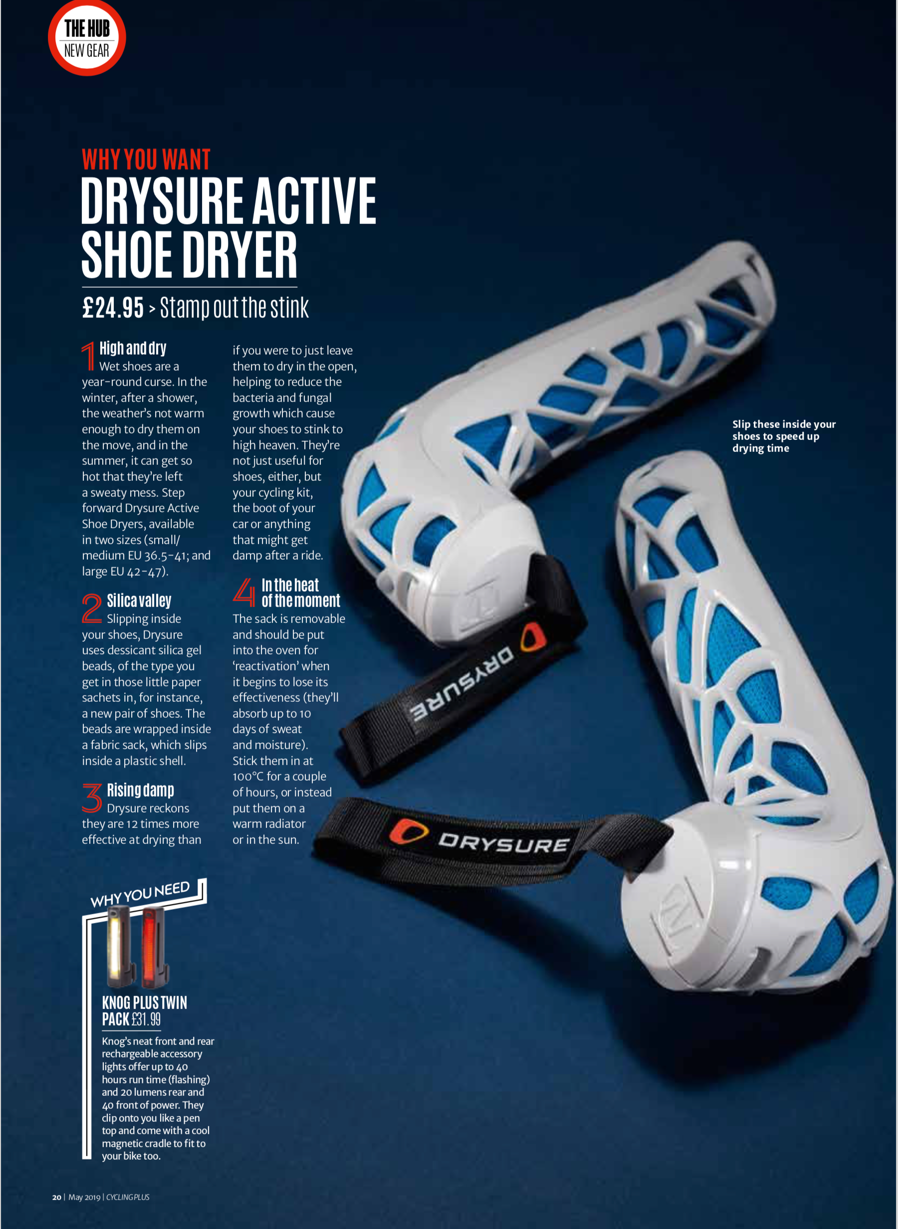 Drysure Active recommended in Cycling Plus Magazine
