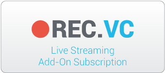 REC.VC 12 month 2500 view hour live streaming add-on subscription