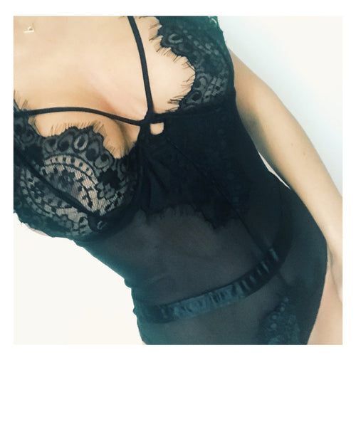 Lovely Lace & Harness Bodysuit