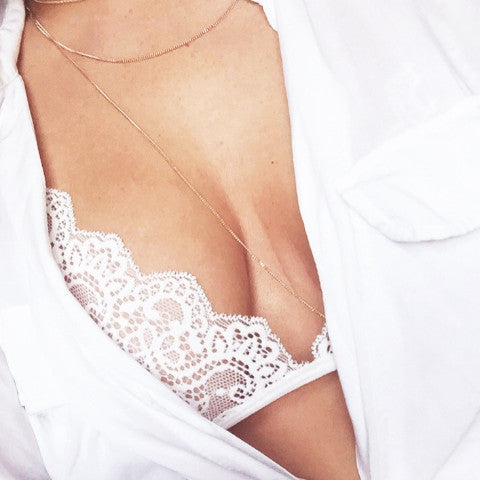 White Lace Triangle Bralet