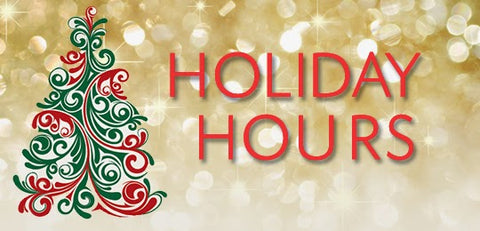 holiday hours at Goldsmith Jewelry