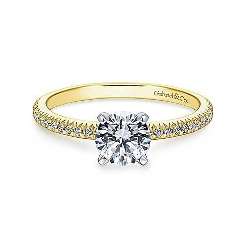 Goldsmith Jewelry Shoppe: Yellow Gold Thin Diamond Engagement Ring