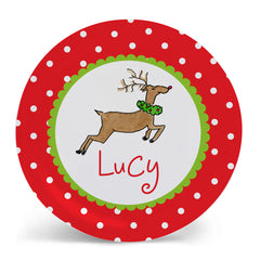 Pesonalized Christmas Plate by Mayfly and Junebug Designs
