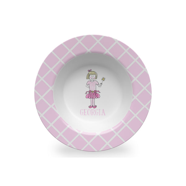 Ballerina Girl Personalized Kids Bowl