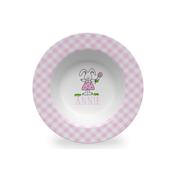Bunny Girl Personalized Kids Bowl