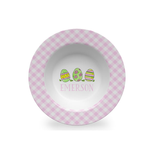 Easter Eggs Personalized Melamine bowl for Kids