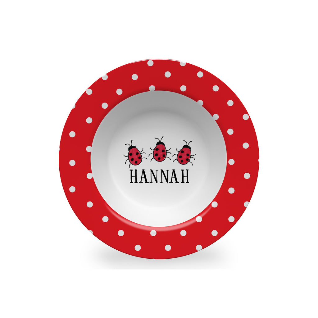 Lady Bugs Personalized Kids Bowl