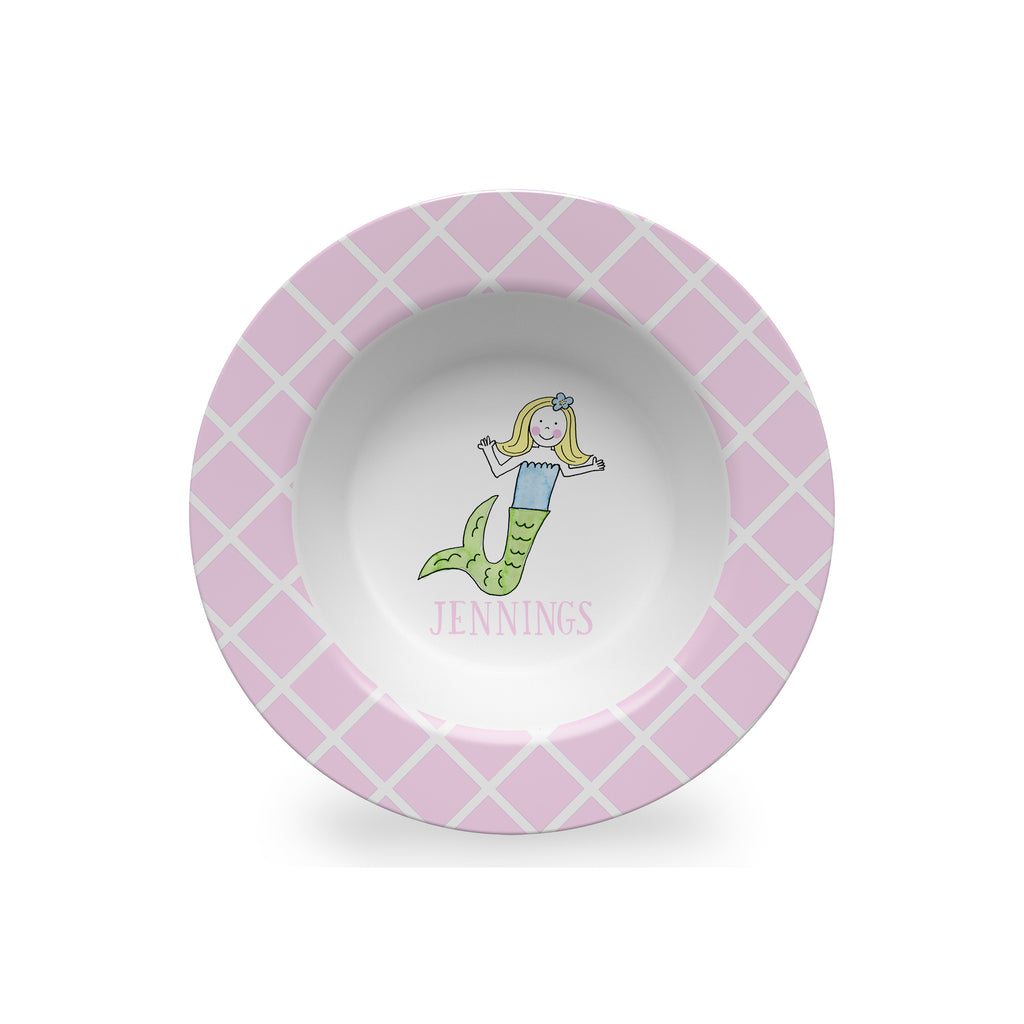 Mermaid Girl Personalized Kids Bowl