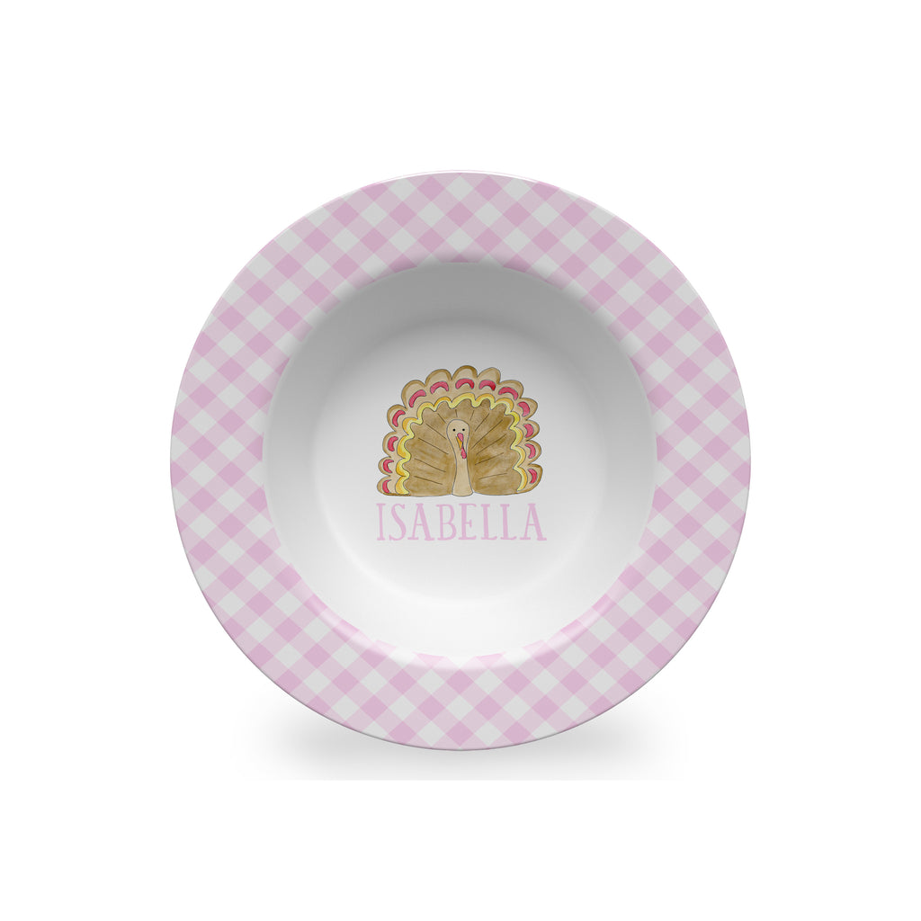 thanksgiving plate for kids personalized melamine
