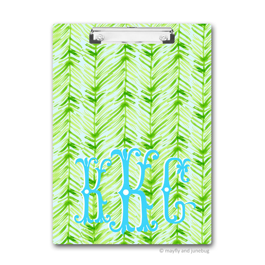 Palm Frond Pattern Clipboard