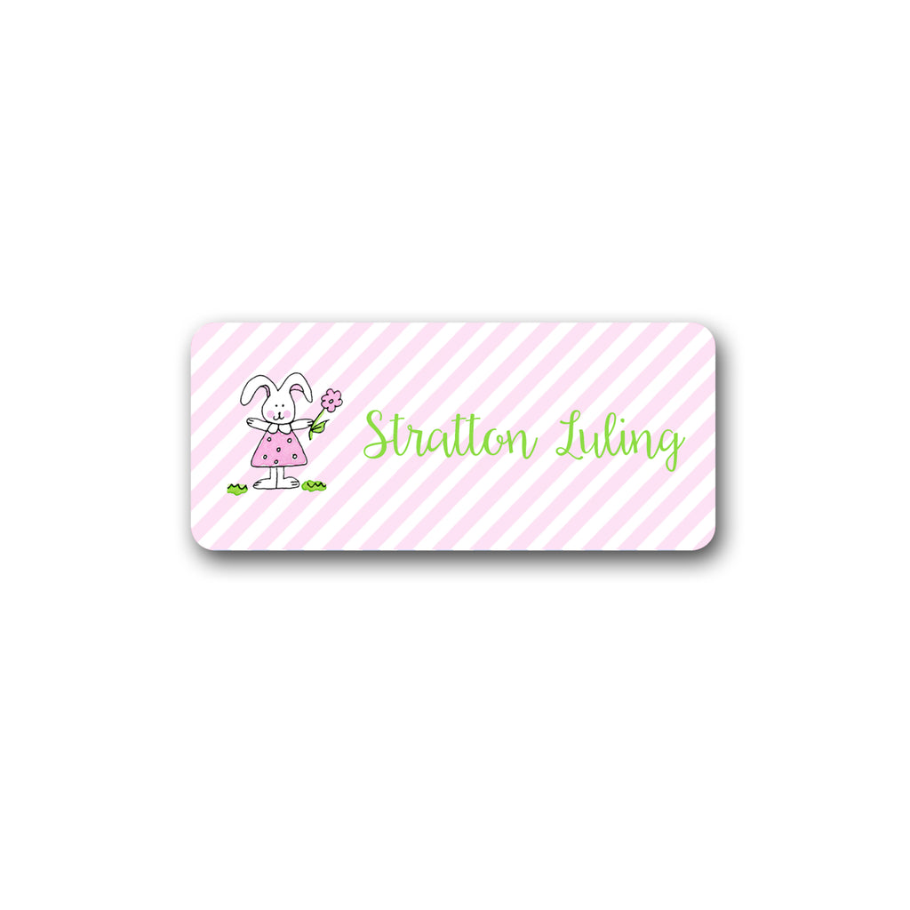 Bunny Girl Vinyl Labels for Kids girls stickers