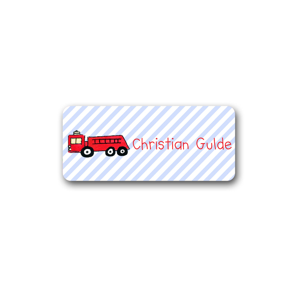 Firetruck Vinyl Labels for Kids Fire truck stickers