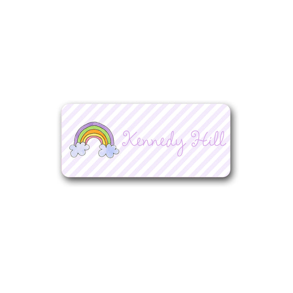 Rainbow Vinyl Labels for Kids girls stickers