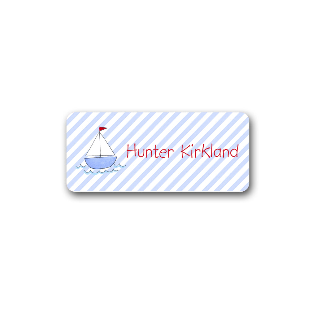Sailboat Labels for Kids Sail boat stickers