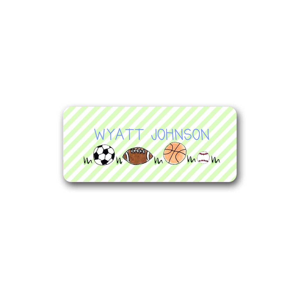 Sports Balls Vinyl Labels for Kids soccer football basketball baseball stickers