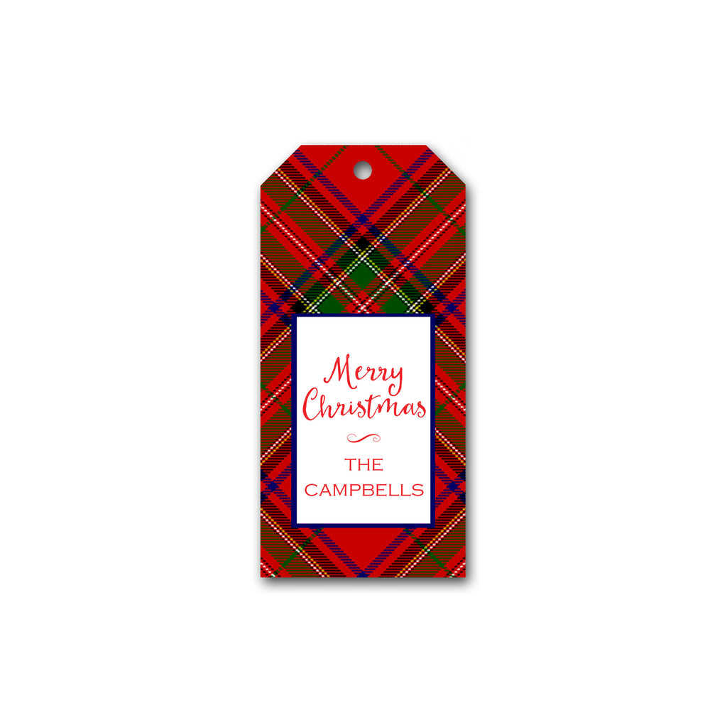 Holiday Gift Tags in Red Plaid | Personalized Gift Tags | Custom Christmas Gift Tags