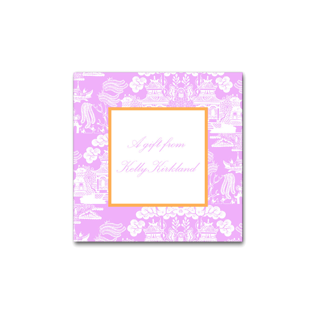 chinoiserie gift sticker label personalized