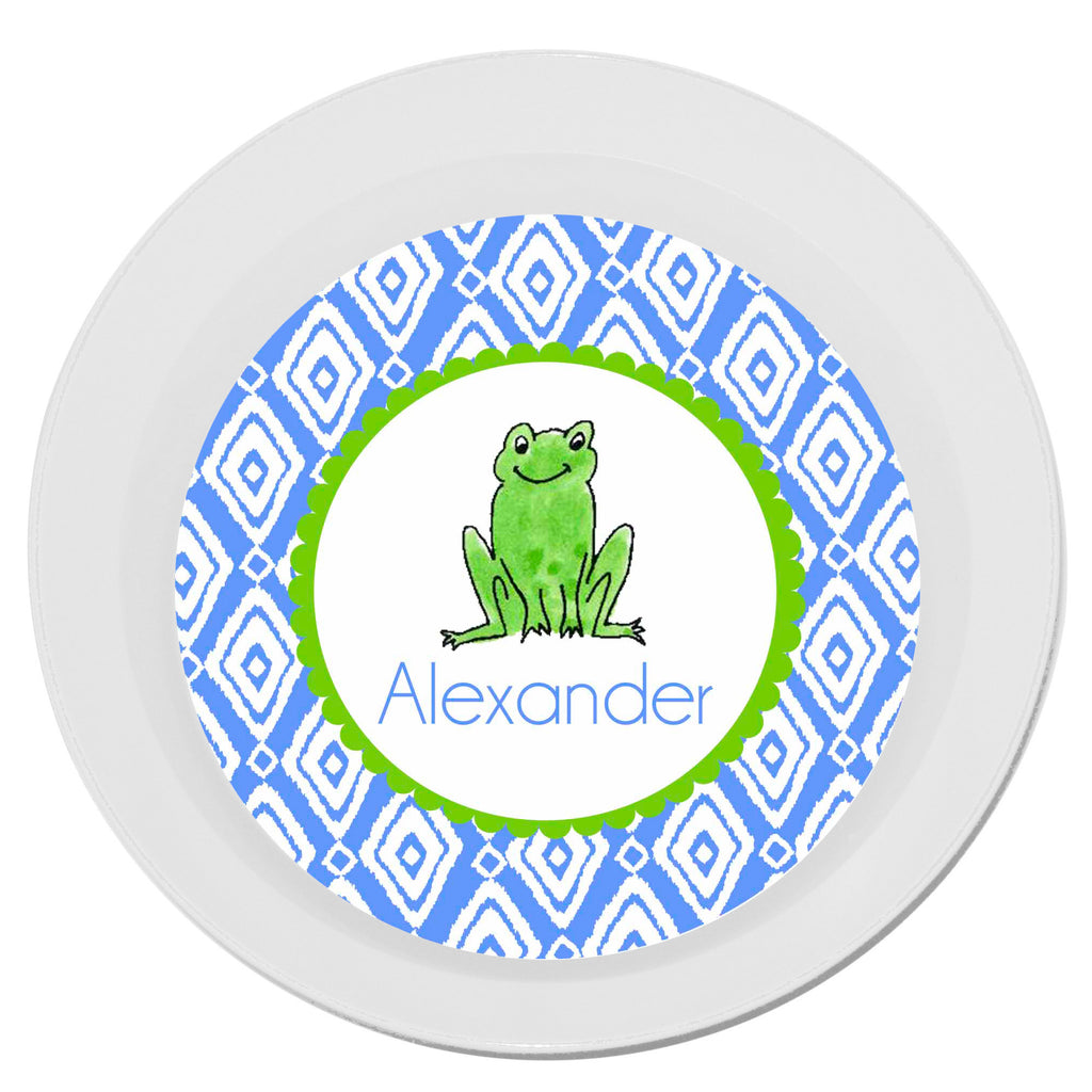 Personalized Melamine Frog Boy Bowl by Mayfly and Junebug Designs