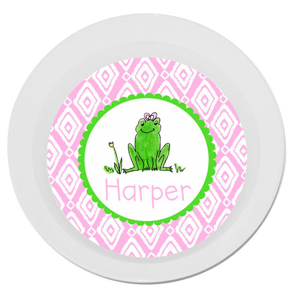 Personalized Melamine Frog Girl Bowl by Mayfly and Junebug Designs