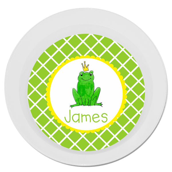Personalized Melamine Frog Prince Bowl by Mayfly and Junebug Designs