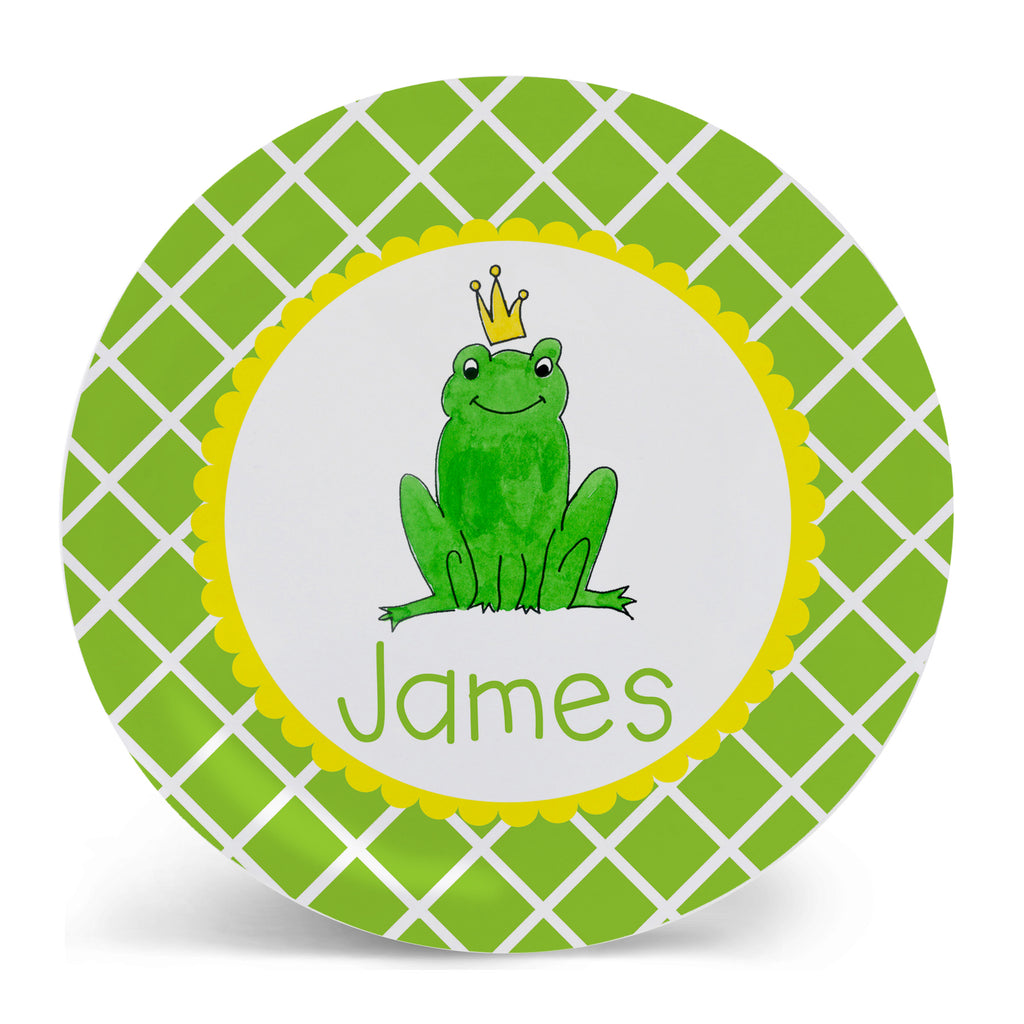 Personalized Melamine Frog Prince Plate by Mayfly and Junebug Designs