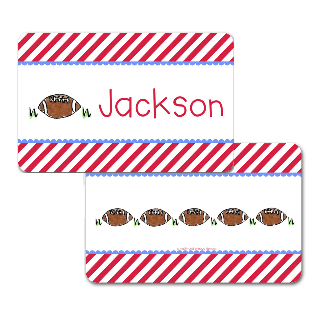 Personalized Football Placemat by Mayfly and Junebug Designs