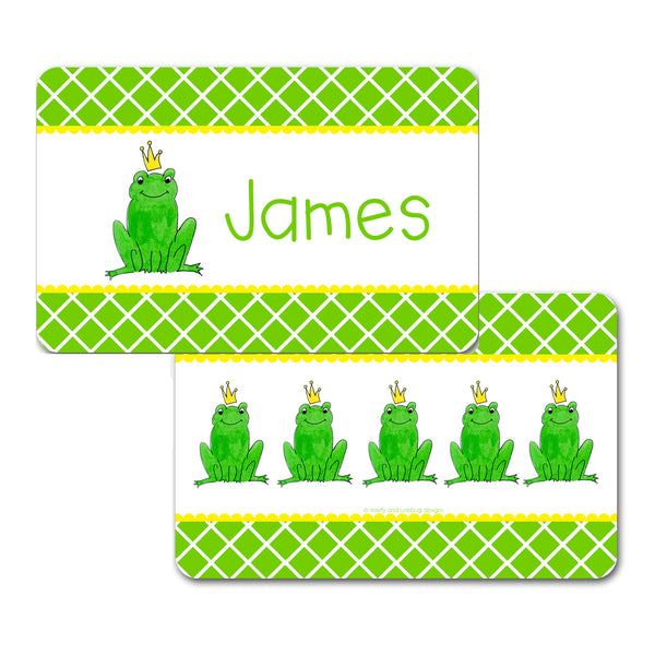 Personalized Frog Prince Placemat by Mayfly and Junebug Designs