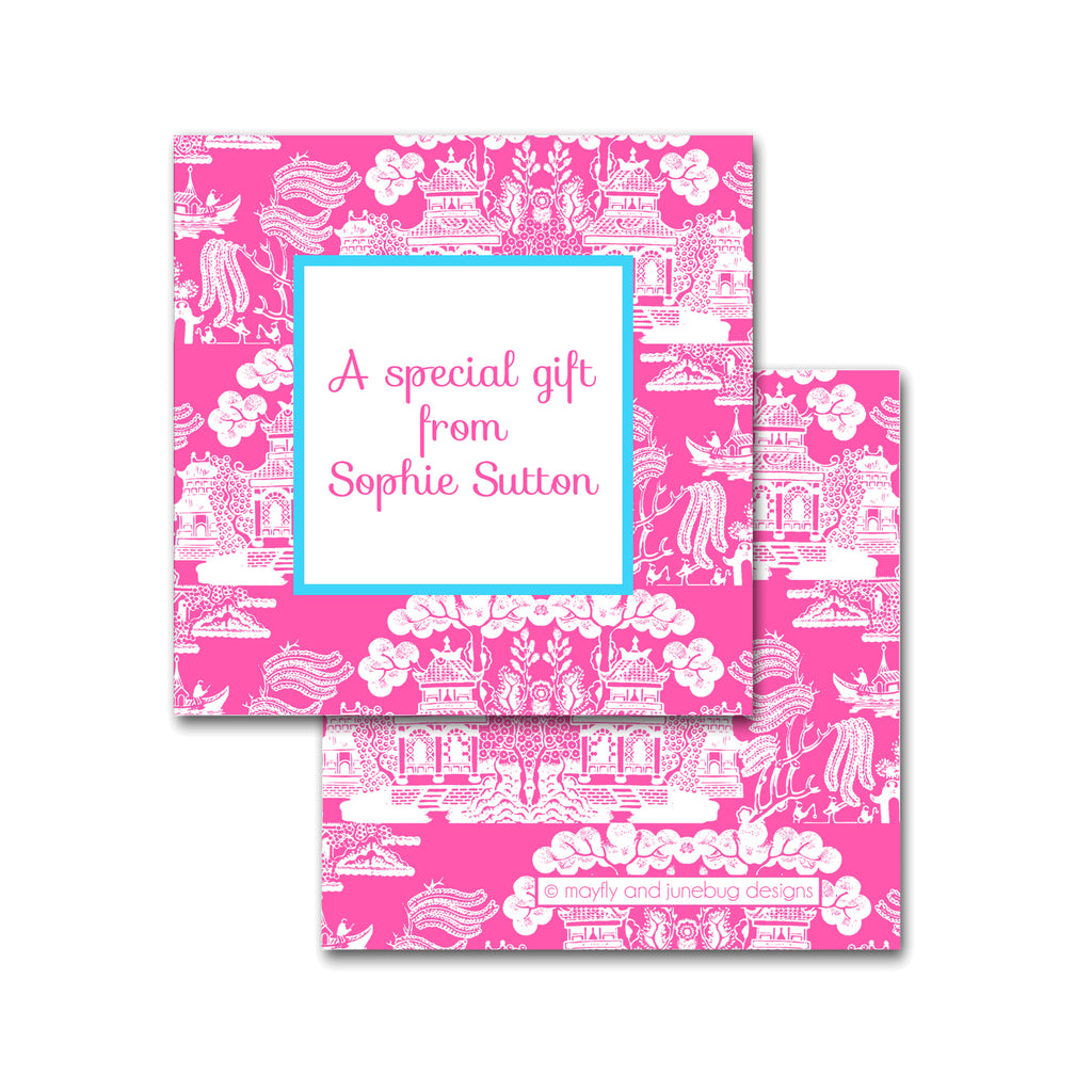 chinoiserie personalized calling cards enclosures square