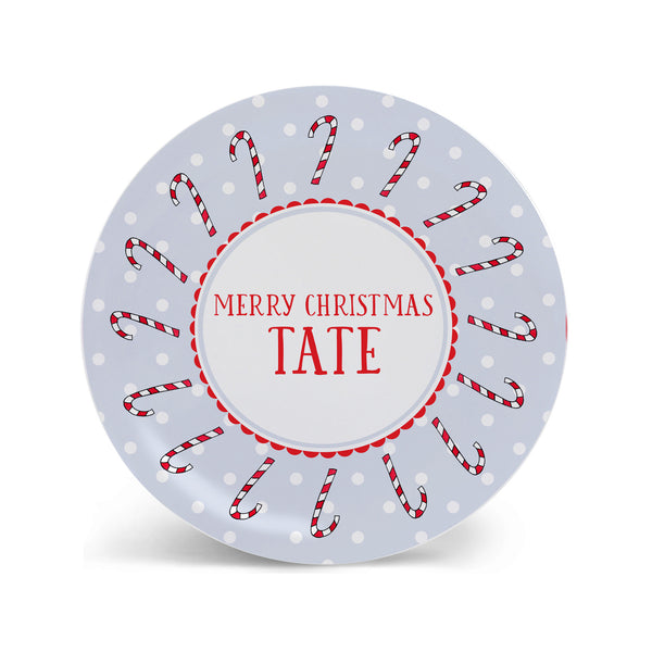 personalized christmas plate for kids melamine child plate