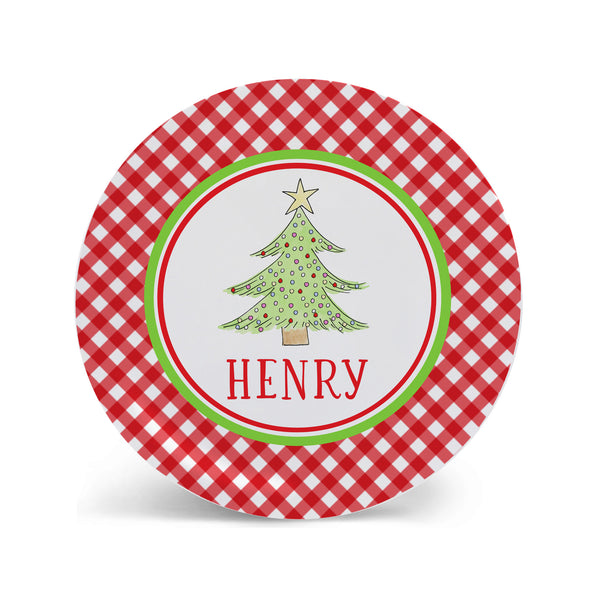 personalized christmas plate for kids