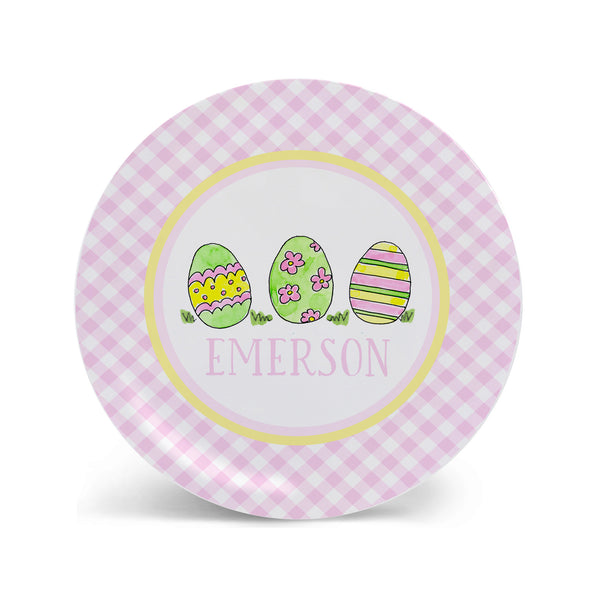 Easter Eggs Personalized Melamine plate for Kids