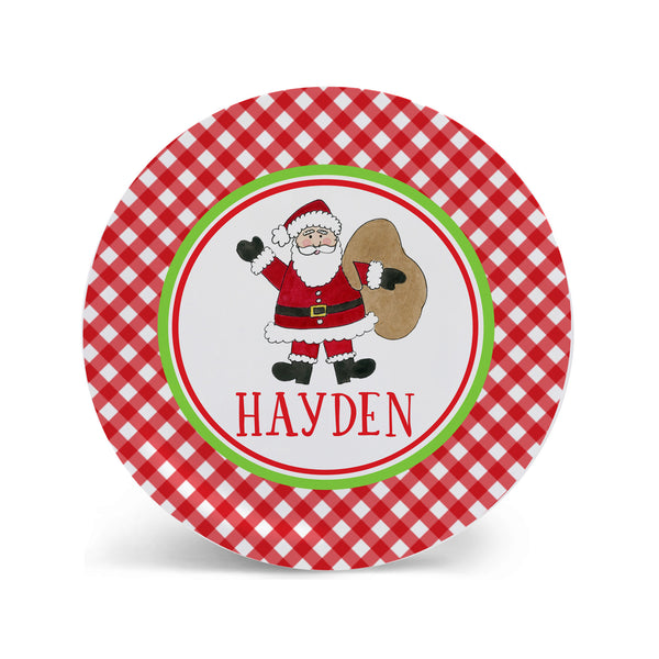 Christmas Plate personalized Santa Claus