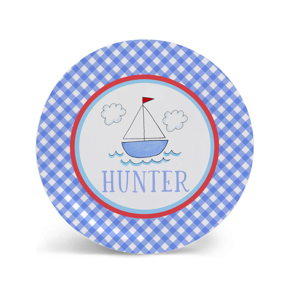 Sailboat Melamine Kids Plate