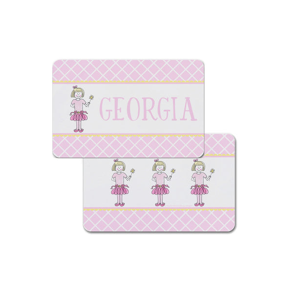 Ballerina Placemat personalized custom girl for kids