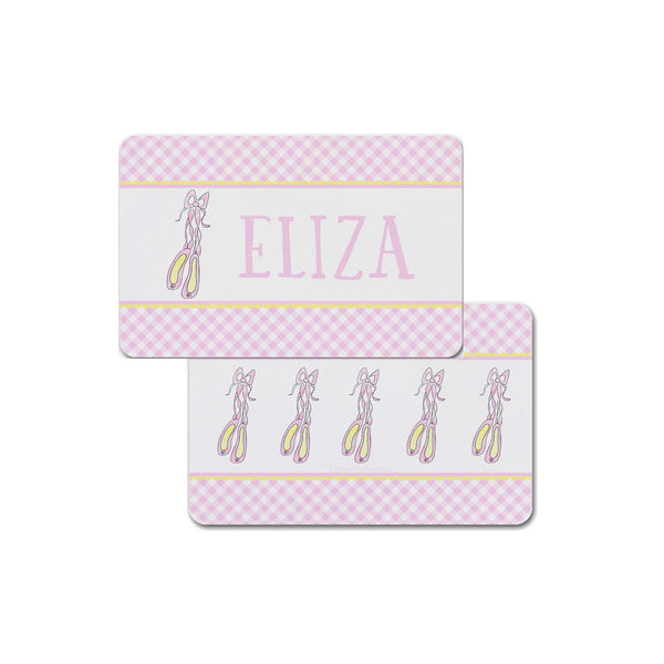 Ballet Slippers personalized placemat ballerina shoes for kids girls place mat