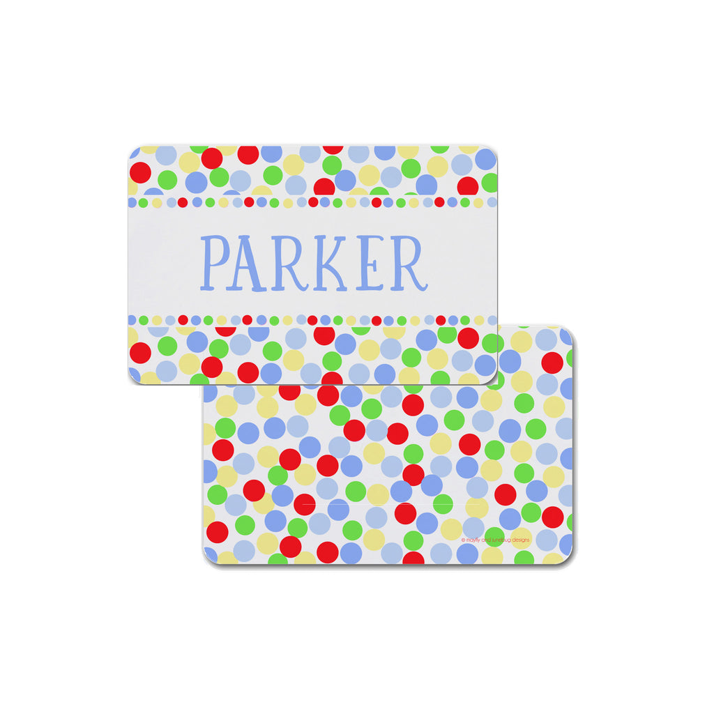 kids polka dot placemat