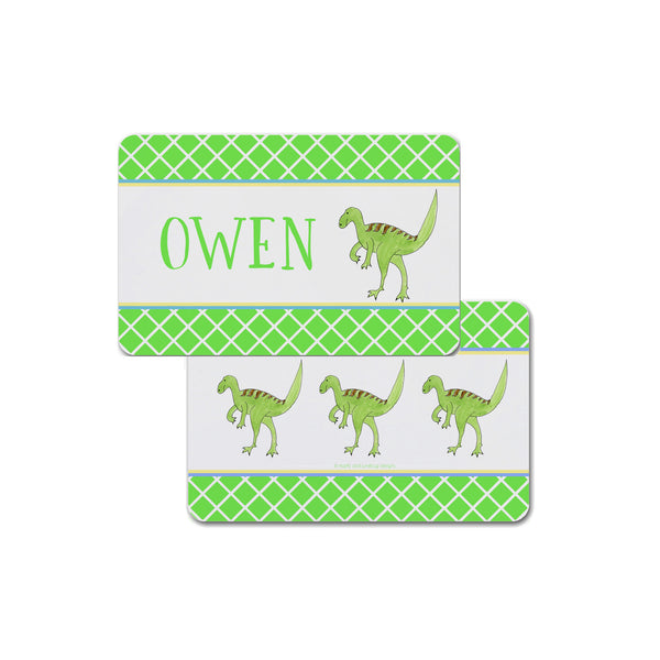 dinosaur placemat place mat personalized