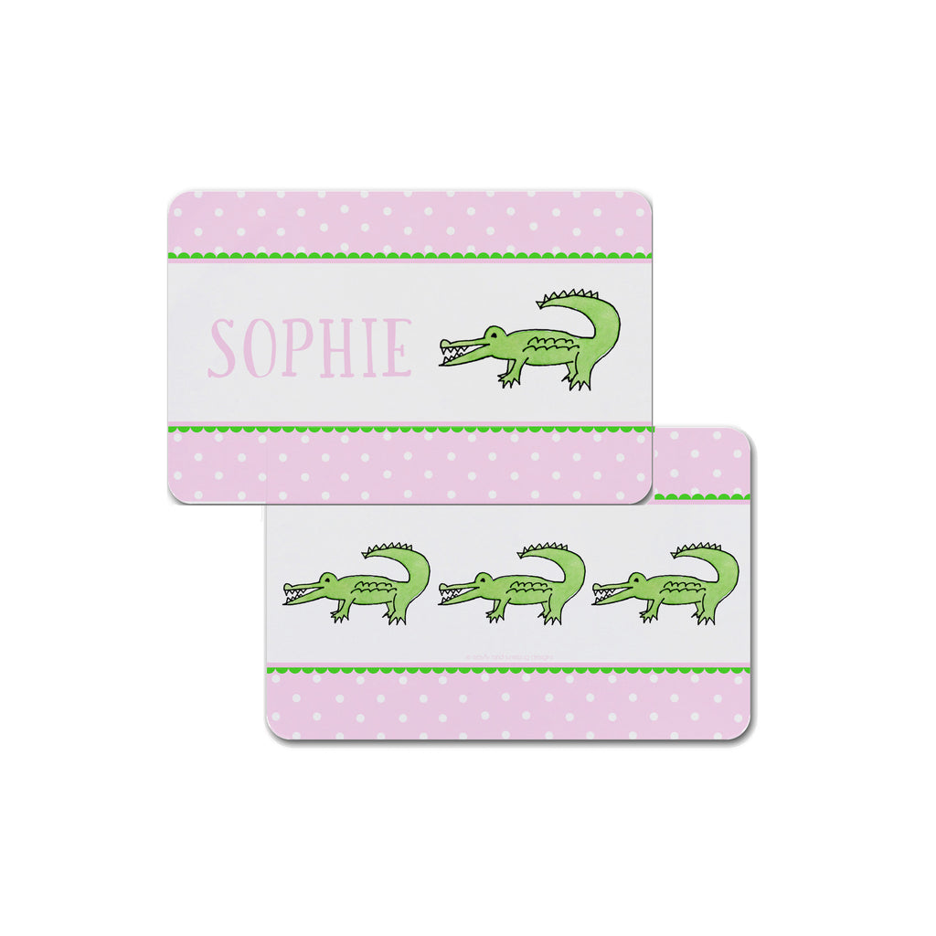 Alligator Kids Placemat in Pink