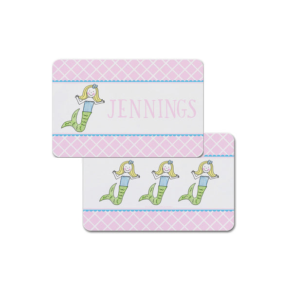 mermaid personalized placemat for girl kids place mat