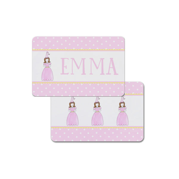 princess placemat personalized for girls kids
